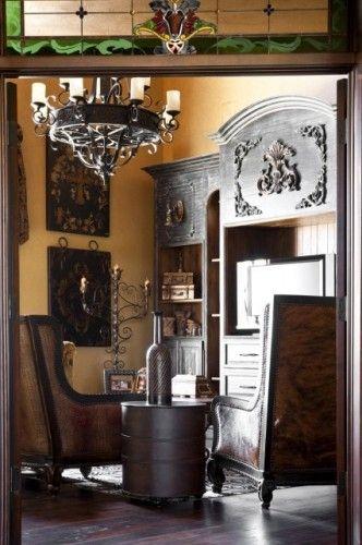 Gaillardia show home traditional family room