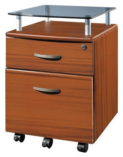 2 Drawer Locking File Cabinet In Wood Grain Finish W Glass Shelf By Techni Mobili 99 99 File Cabin Filing Cabinet Rolling File Cabinet Drawer Filing Cabinet