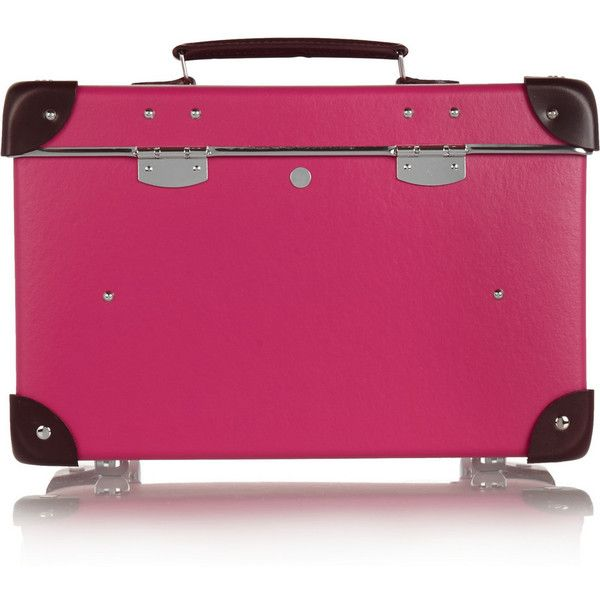 "Globe-Trotter Candy 13"" leather-trimmed vanity case (€670) via Polyvore featuring bags e luggage"