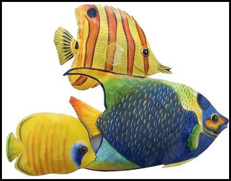 Tropical Fish Wall Hanging - Hand Painted Metal Handcut from ...