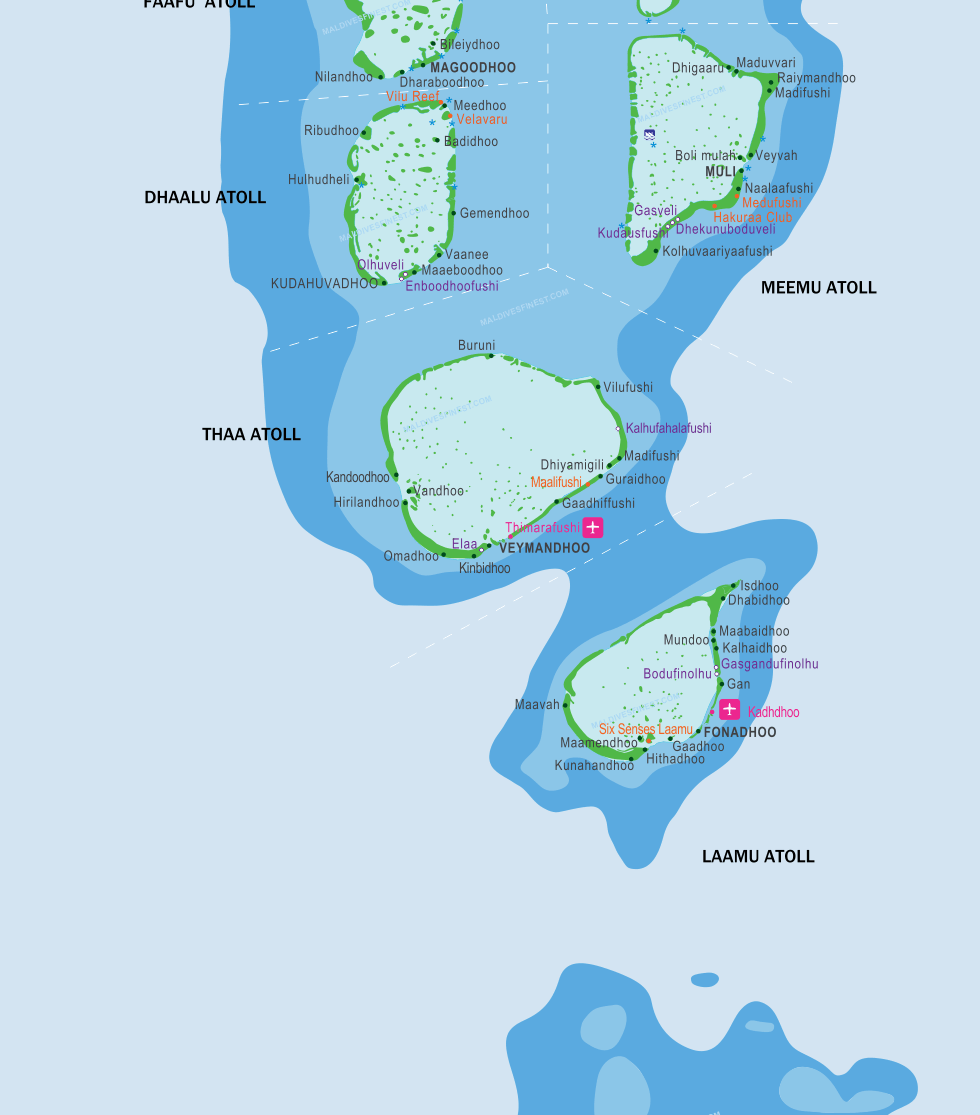 Maldives Location Map
