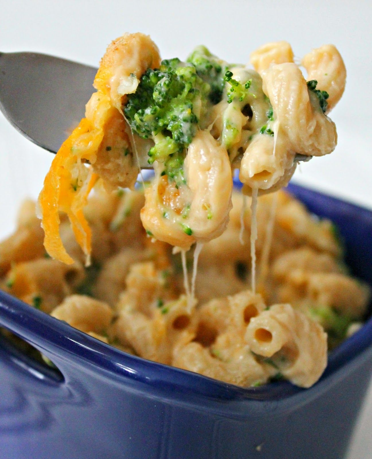 Skinny Broccoli Mac and Cheese! - It is delicious!