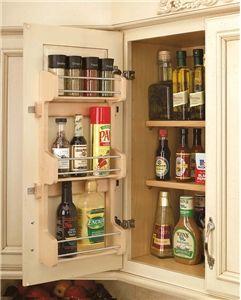 RevAShelf 4SR15 10 inch Door Mount Spice Rack Shelf