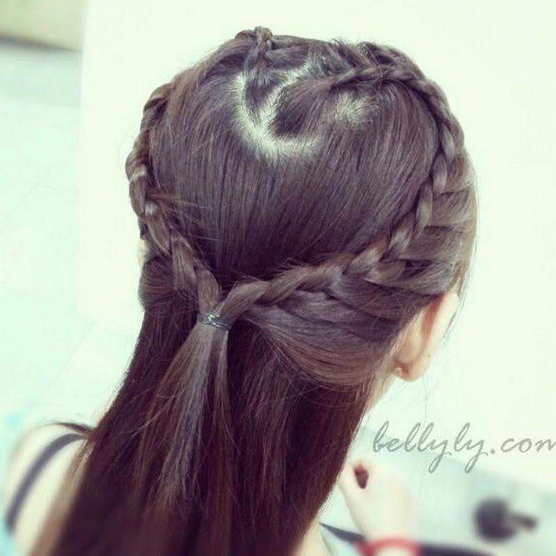 تسريحات شعر بالصور تسريحات وفروم شعر للسهرات والحفلات 2014 Heart Braid Up Hairstyles Hair