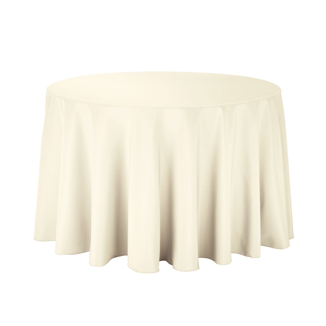108 In Round Economy Polyester Tablecloth Ivory White Table Cloth Table Cloth Round Table Covers