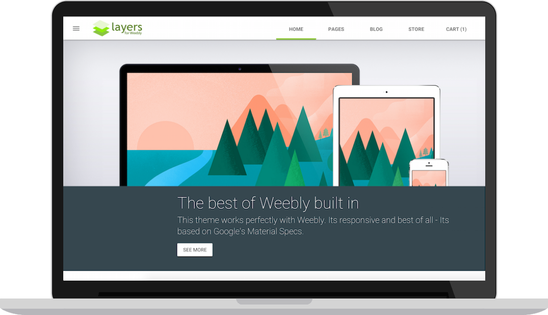 Layers theme a material design theme for weebly premium weebly layers theme a material design theme for weebly maxwellsz