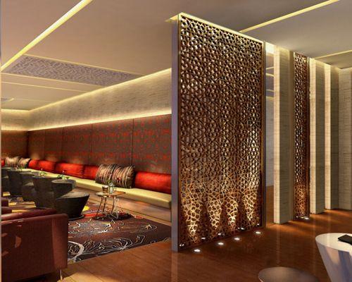 Corridor And Screen Partitions Cnc Celosias Restaurant Interior Design Hotel Interiors Indian Interiors