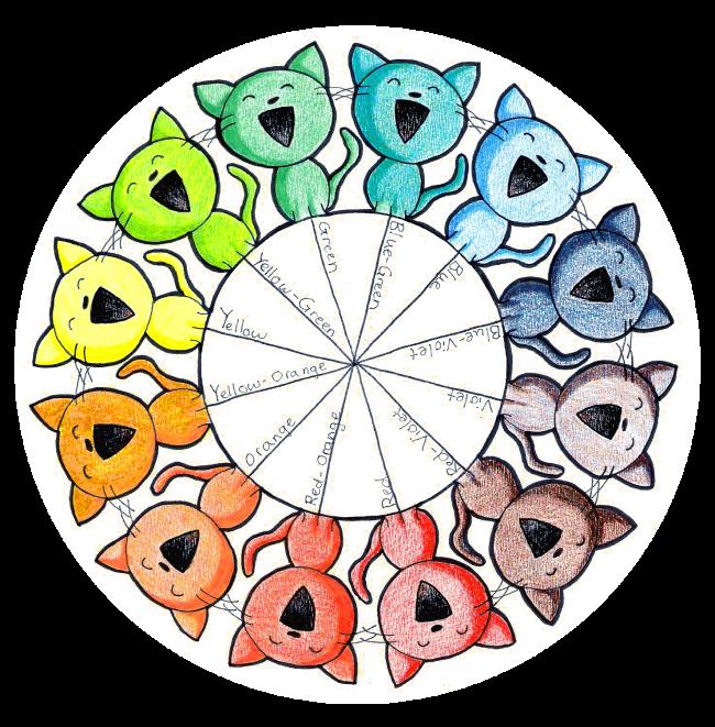 Color Wheel Kitties By Paper Flowers Deviantart Com On Deviantart