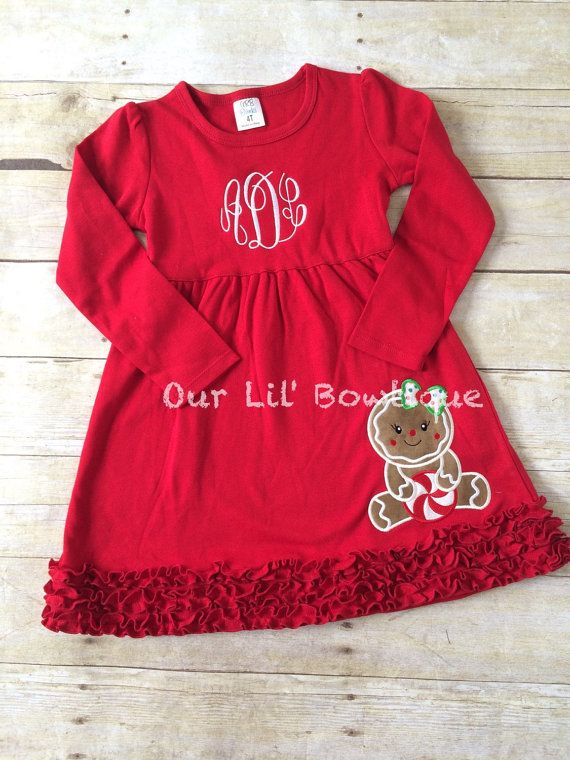 gingerbread christmas shirt girls christmas by ourlilbowtique - Girls Christmas Shirts