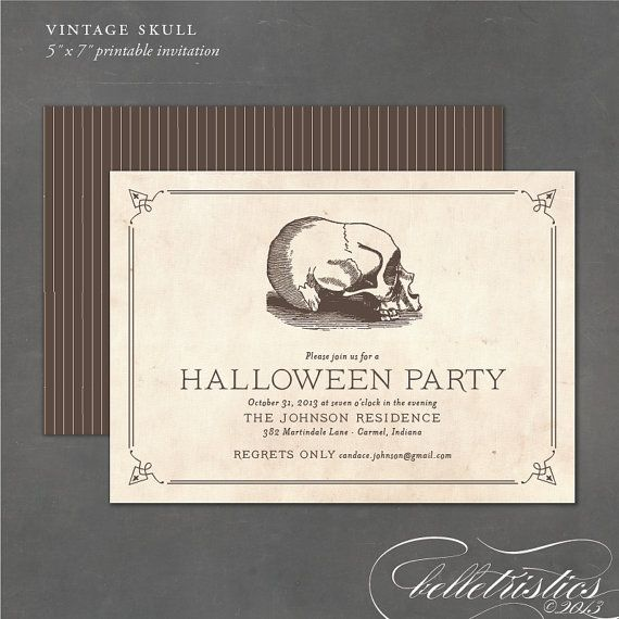Halloween Party Invitation - Printable Halloween Invite, Party Invitations