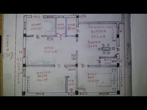 30 X 25 / 30 X 30 North West House Plan Walk Through - YouTube ...
