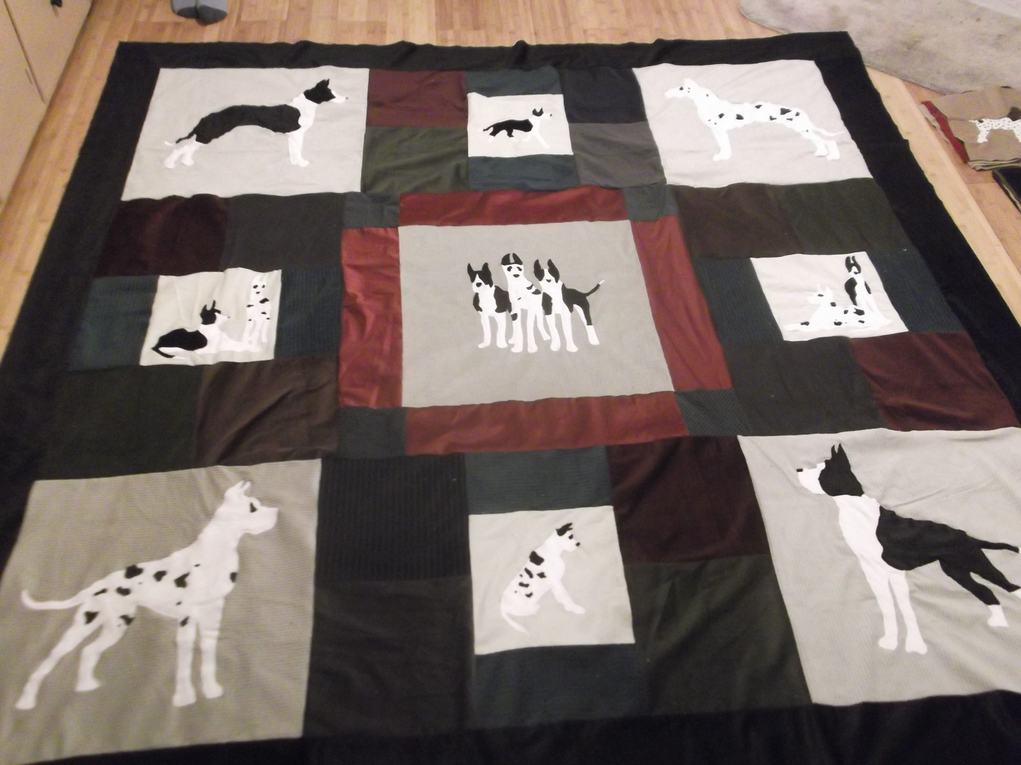 Great Dane Themed quilt (With