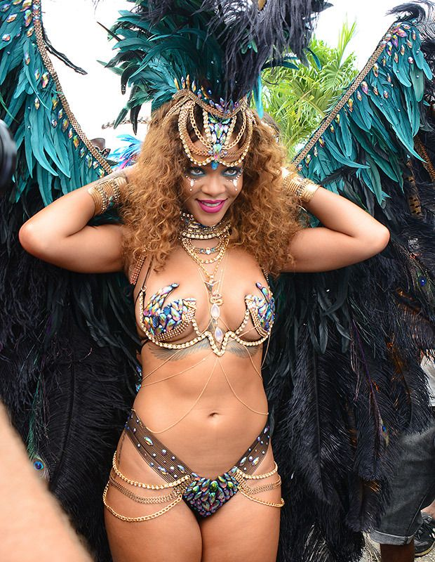 d003c0de7 Rihanna Sizzles In Barbados  See Pics Of Her Sexiest Bejeweled Bikinis  Ahead Of Crop Over Festival – Hollywood Life