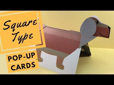 How to Make a Popup Card Flip to Stand Using VFold