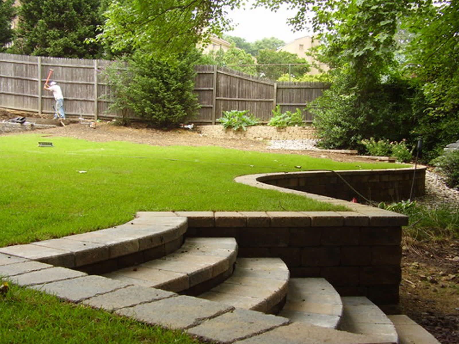 innovative retaining wall ideas for sloped backyard ...
