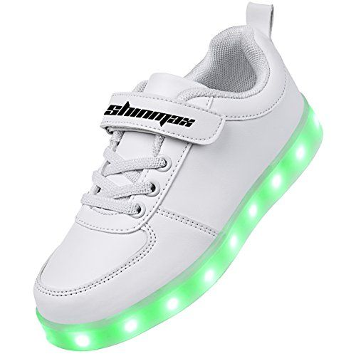 e1d4f294a944 Shinmax Kids LED Shoes light up Sneaker 7 Colors Flashing Shoes for Kids  gift.