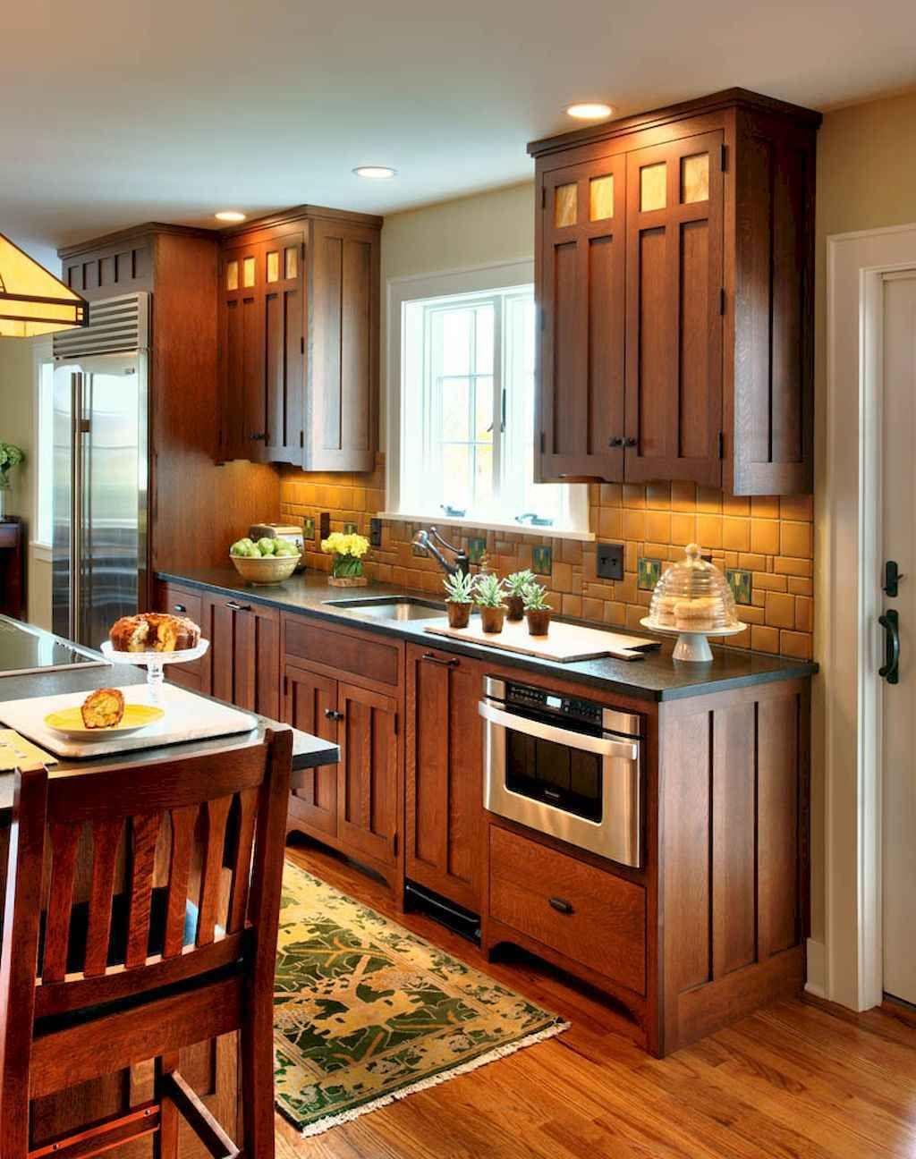 100 Best Oak Kitchen Cabinets Ideas Decoration For Farmhouse Style 3 Craftsman Style Kitchens Craftsman Kitchen Rustic Kitchen Cabinets