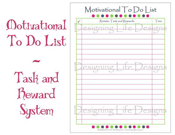 Editable To Do List - Task and Reward Printable PDF Reward - editable to do list template