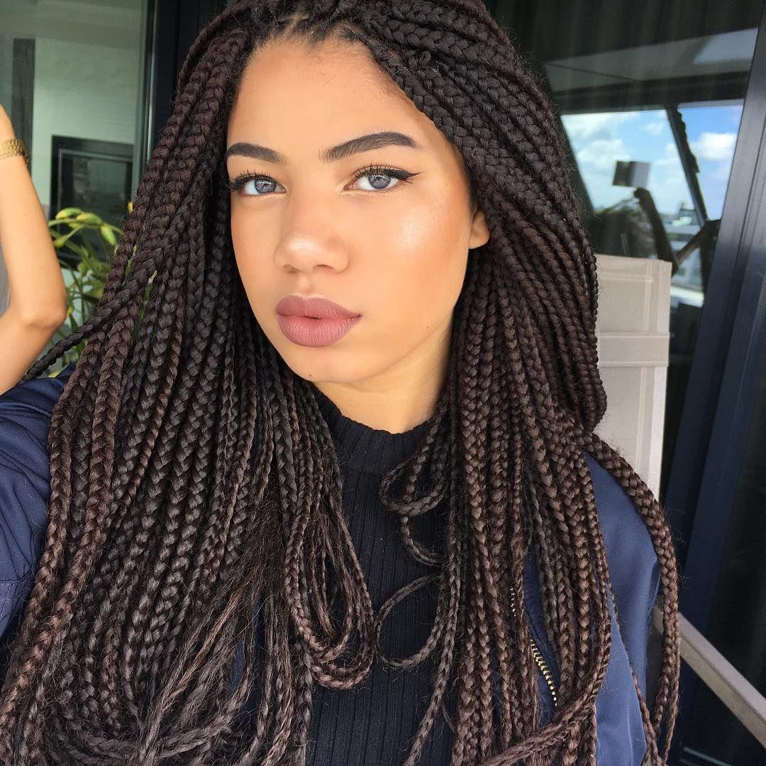 Long Box Braids Hairstyles 2018