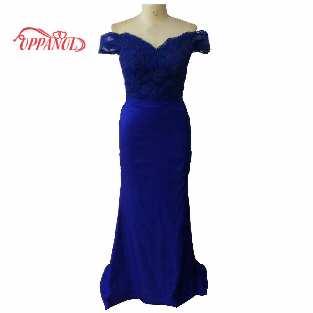 Click to buy ucuc royal blue prom dress long applique lace prom