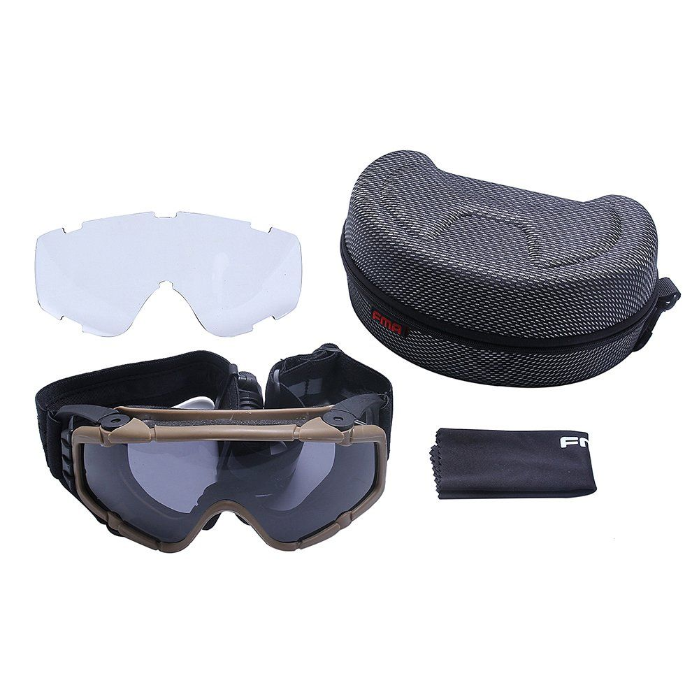 70f177d73b FMA Tactical SIBallistic Antifog Antidust Safety Goggles Glasses Eyewear  with Fan and 1 Interchangeable Lens for Outdoor Airsoft Paintball Hunting  ...