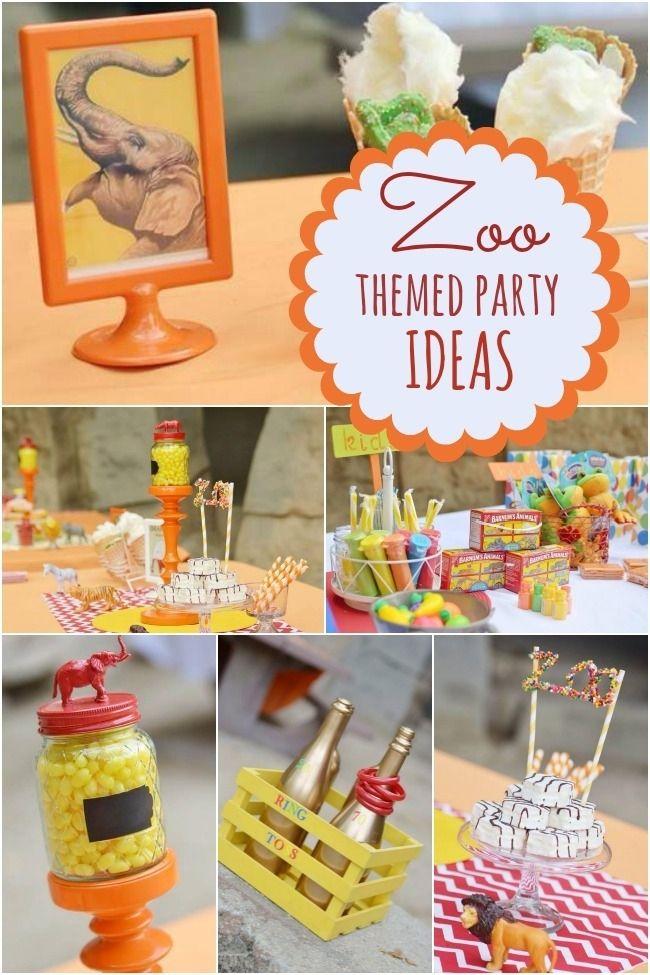 A Terrific Zoo Themed Boys Birthday Party Themed birthday