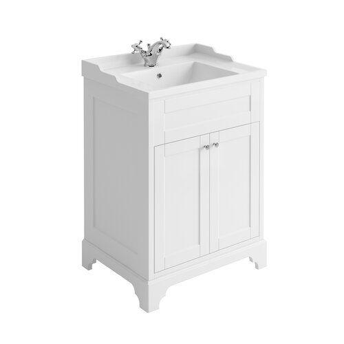 CC Under Sink Free Standing Storage Unit Bathroom Cabinet White.