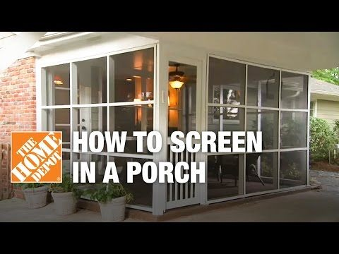 how to screen in a porch - installing a screen tight porch system