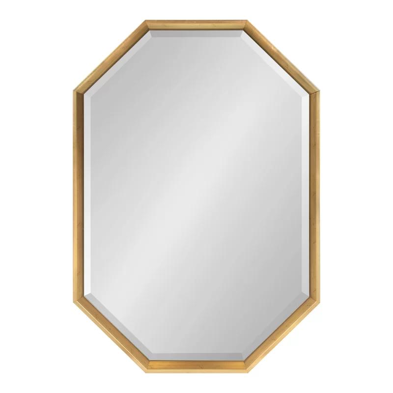 Brayden Studio Gatsby Elongated Octagon Modern Beveled Accent Mirror Reviews Wayfair Framed Mirror Wall Mirror Wall Frames On Wall