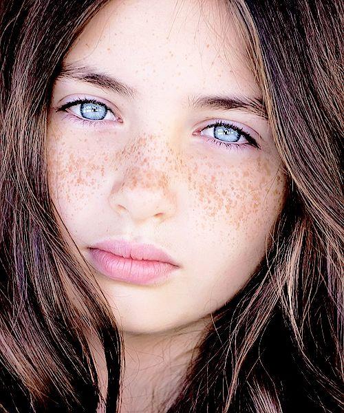 Big Bright Blue Eyed Girl Lilly Kruk Beautiful Eyes Portrait