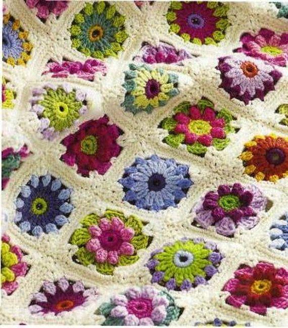 Instant PDF Download Vintage Crochet Pattern to make A Pretty Rose ...