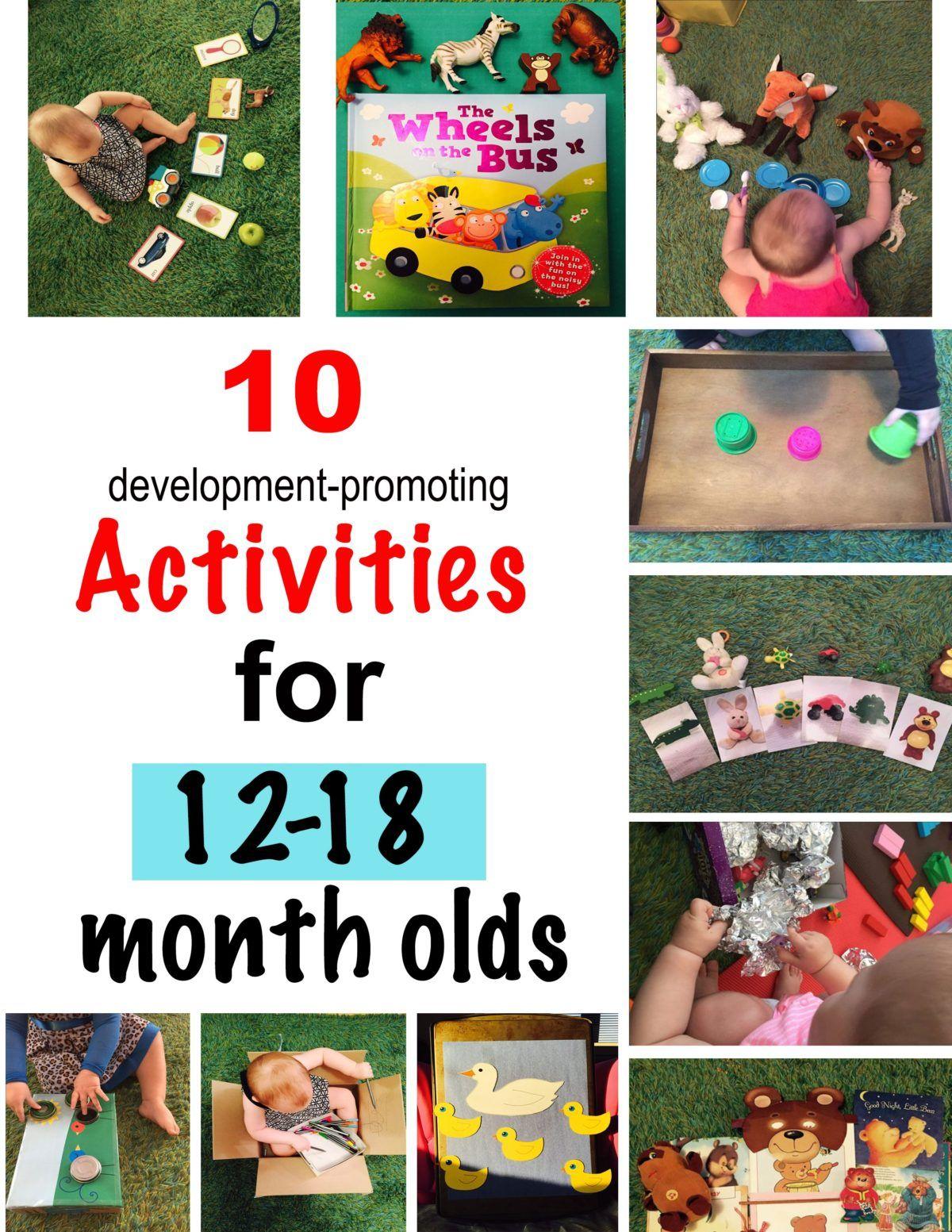 10 development promoting activities for 12-18 month olds, activities for  one year old, activities for 12 month old, activities for 13 month old, ...