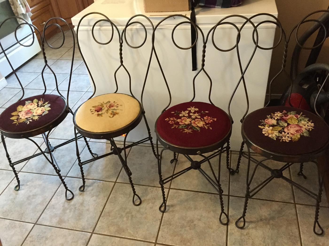 (18) antique parlour hand stitched seats collectable chair set - VarageSale Sarnia