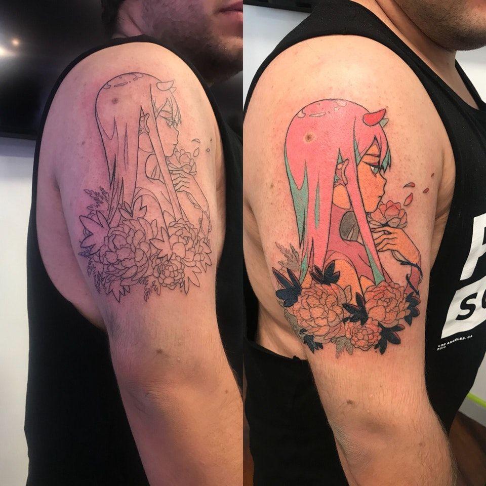 My finished zero two tattoo darlinginthefranxx body