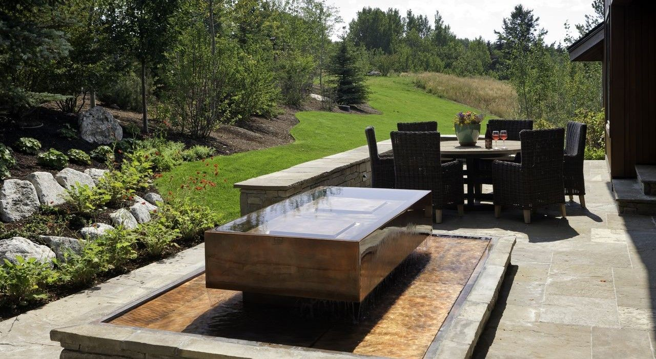 Custom Water Fountains   Stainless Steel & Copper Water Features   Diamond Spas