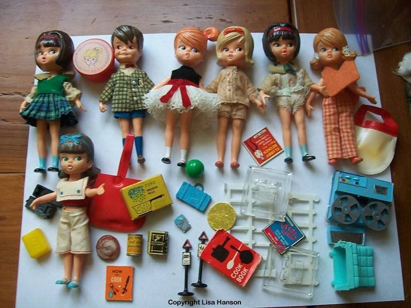 1965 Toys For Boys : Dolly darlings made from are ″ dolls with molded