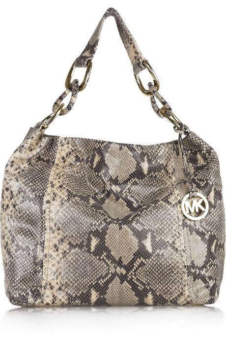 1c141d7f1607 MICHAEL Michael Kors Glazed embossed python bag 1