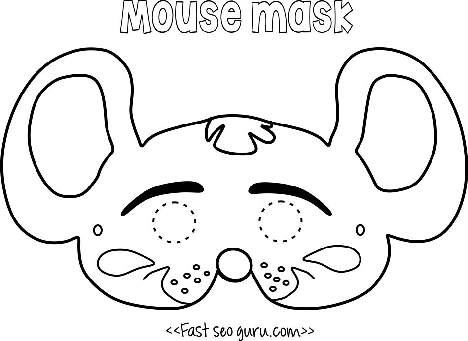 Printable mouse mask coloring in mask for kids | costumes ...