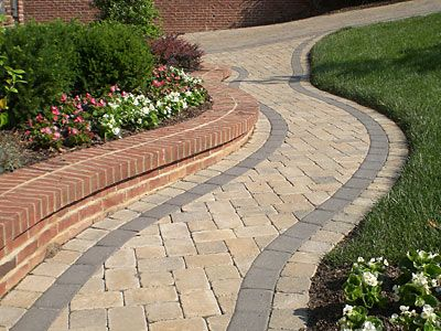walkways pavers patio design ideas - Paver Walkway Design Ideas