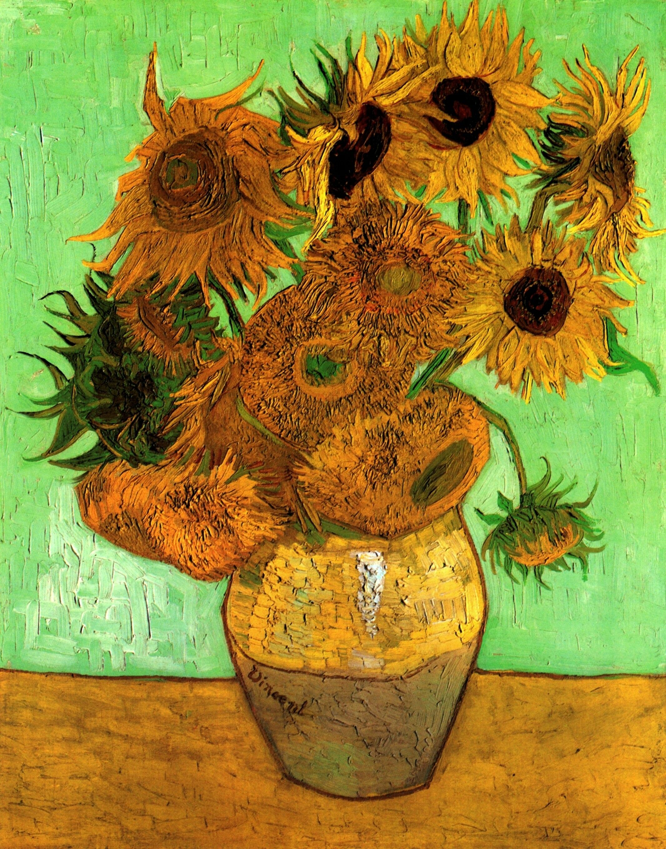 Vincent Van Gogh Paintings Still Life Vase With Twelve