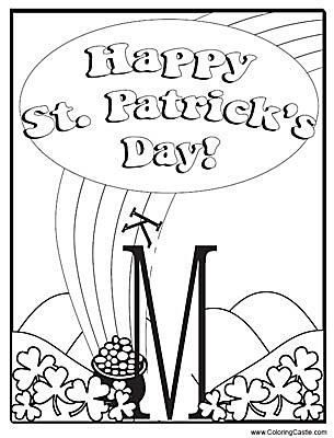 Try These Free, Printable St. Patrick\'s Day Coloring Pages | Free ...