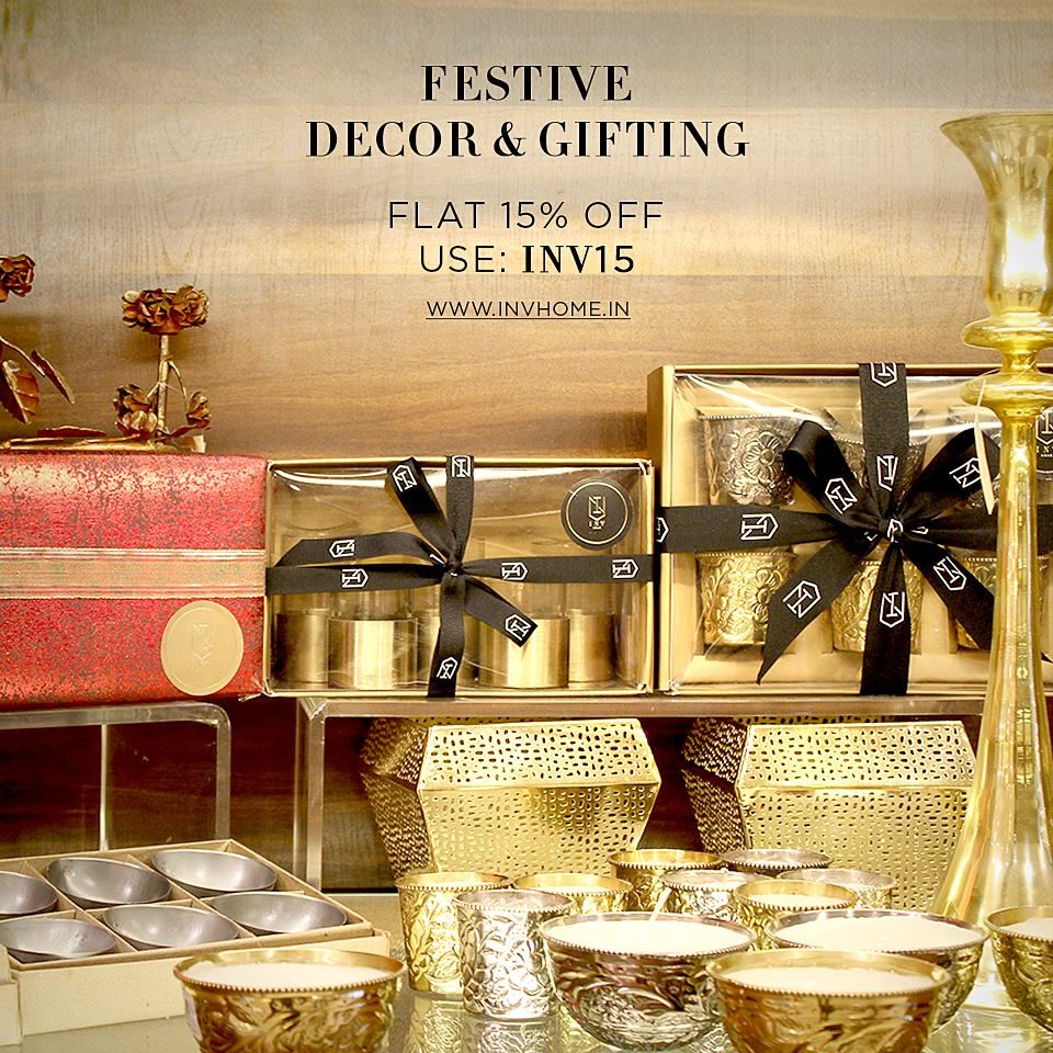 Celebrate the essence of festivity with INV's delightful offers. USE: INV15 & Get FLAT 15% OFF: www.invhome.in till 24th Oct. For online store only! Call: +919213336060 for any queries!  #INVHome #HomeDecor #FestiveDecor #DiwaliGifts #FestiveGifts