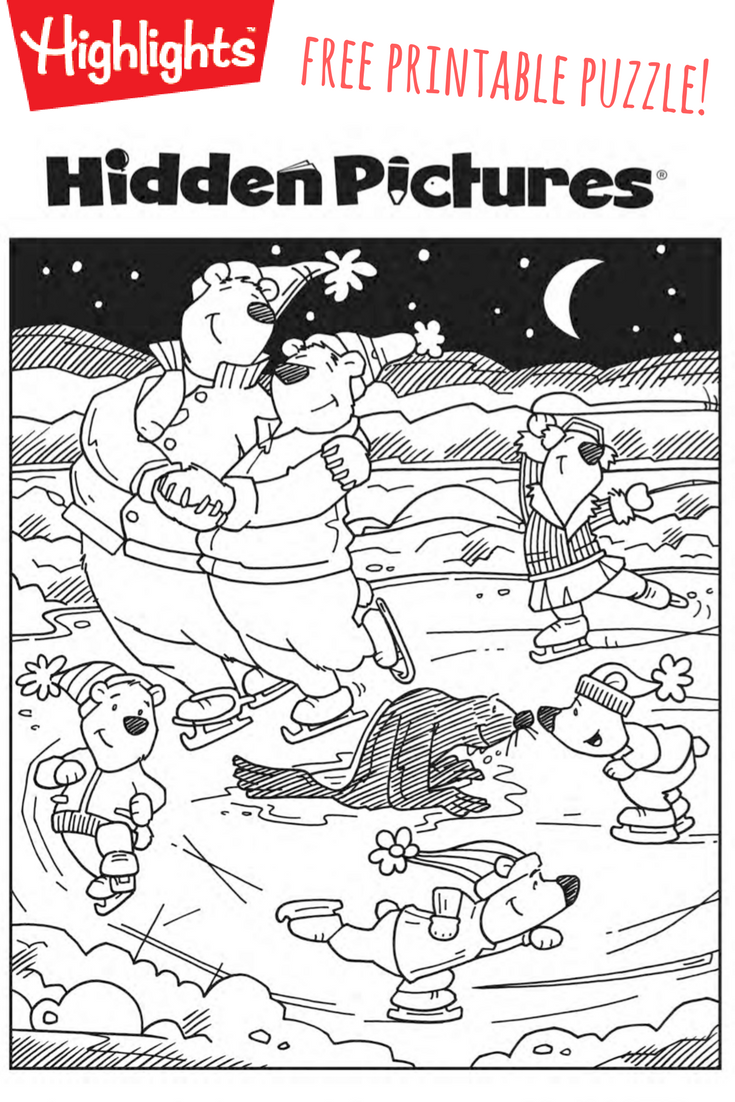 Download This Free Printable Winter Hidden Pictures Puzzle To Share