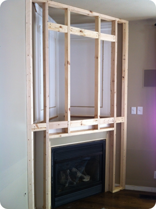 a fireplace redo house fireplace redo thrifty decor chick diy rh pinterest com how to build a corner fireplace mantel and surround how to build a corner fireplace surround