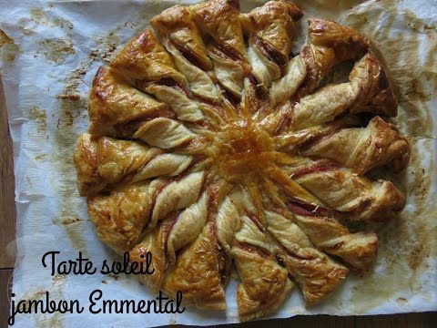 Recette de tarte soleil jambon Emmental - YouTube