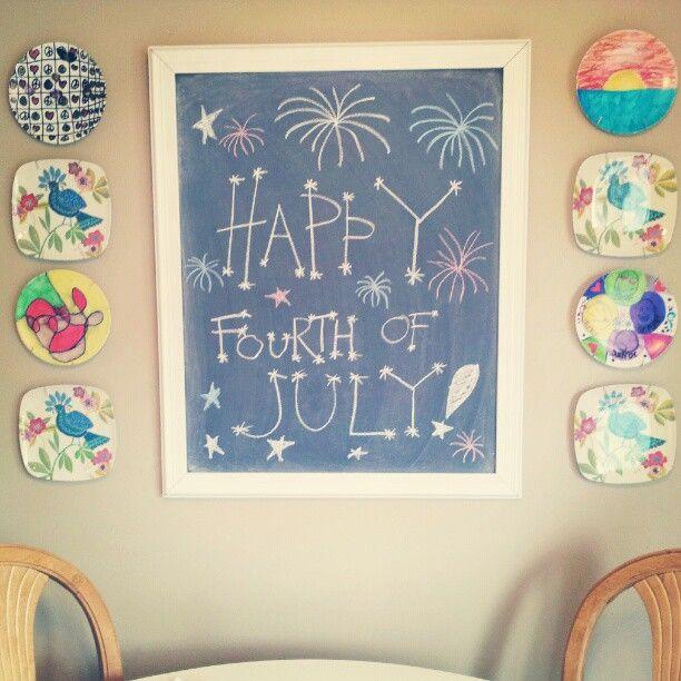 My Early Summer Kitchen Chalkboard Design.