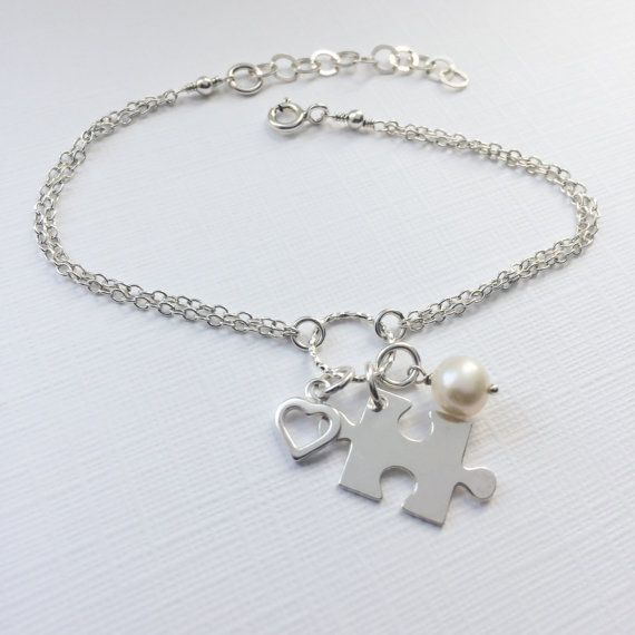 Puzzle Piece Bracelet In Sterling Silver Adjule Jigsaw