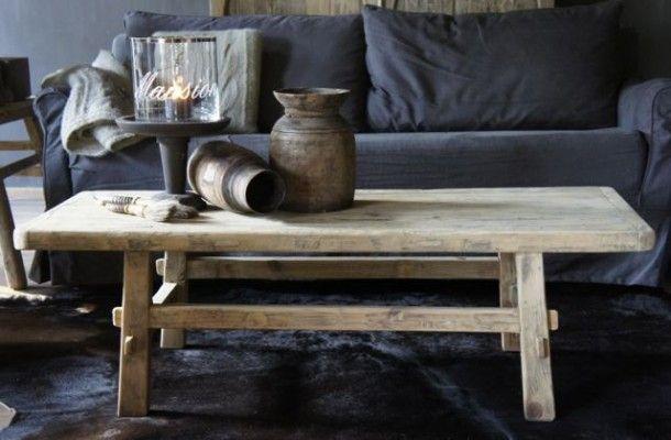 Prachtige Salon Tafel.Inspirerend Prachtig Oud Houten Elmwood Salontafel