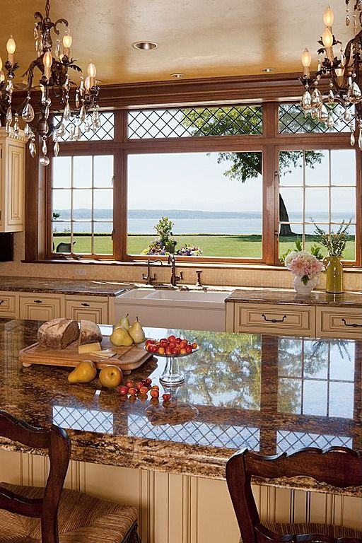 Country Kitchen With A View Beautiful Kitchens Country Kitchen