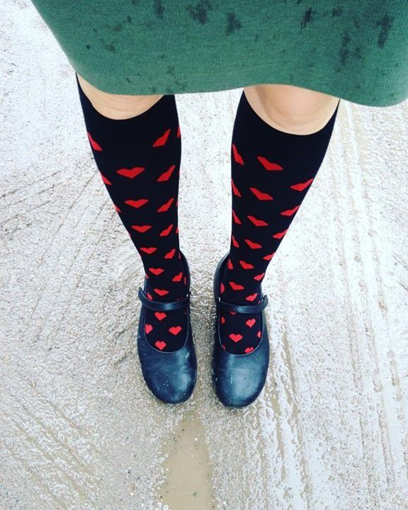 Päivän #työkengät ja sukat. ❤️❤️❤️